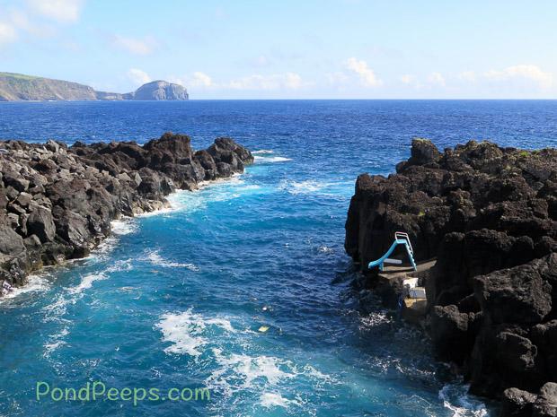 Beach slide in Road Trip - Azores