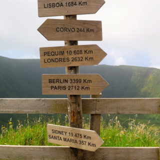 Road signs in Road Trip - Azores